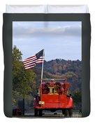 Bethlehem Fire Truck - D008199 Duvet Cover by Daniel Dempster