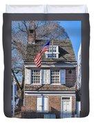 Betsy Ross House Duvet Cover