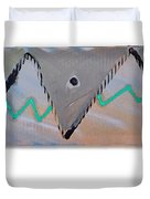 Between The Mountains And The Fishes Duvet Cover