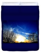 Between Two Trees Duvet Cover