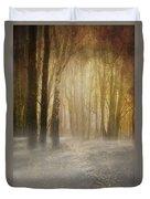 Beware Misty Woodland Path Duvet Cover