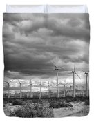 Beyond The Clouds Bw Duvet Cover