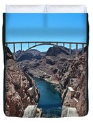 Beyond The Hoover Dam Spillway Duvet Cover