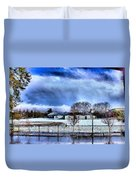 Bhs Softball Field Winter 2012 Full Duvet Cover