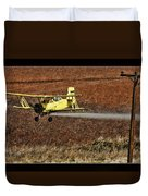 Bi Plane And Phone Pole Duvet Cover