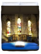 Bible In Church Duvet Cover