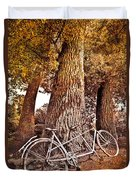 Bicycle Built For Two Duvet Cover by Debra and Dave Vanderlaan