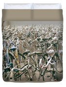 Bicycle Park In Beijing In China Duvet Cover