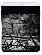 Bicycle Shadow 1 Duvet Cover