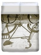 Bicycle Shadow Duvet Cover