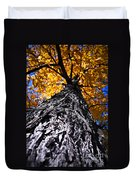 Big Autumn Tree In Fall Park Duvet Cover