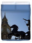 Big Ben And Boadicea Statue  Duvet Cover