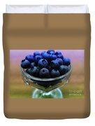 Big Bowl Of Blueberries Duvet Cover
