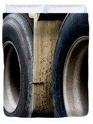 Big Fat Tires Duvet Cover
