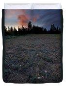 Big-headed Clover Sunset Duvet Cover
