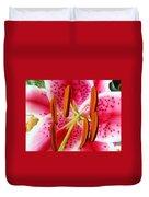 Big Lily Flower Art Prints Pink Lilies Floral Duvet Cover