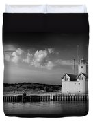 Big Red Lighthouse In Holland Michigan Duvet Cover
