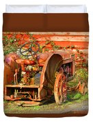 Big Red Tractor Duvet Cover