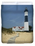 Big Sable Lighthouse In Ludington Michigan Number 3 Duvet Cover