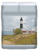 Big Sable Lighthouse Duvet Cover