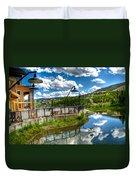 Big Sky Ski Resort II Duvet Cover