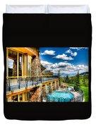 Big Sky Ski Resort Montana Duvet Cover