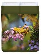 Big Yellow Grasshopper Duvet Cover