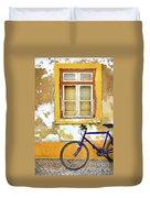 Bike Window Duvet Cover