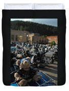 Biker Bear Duvet Cover