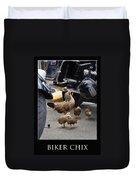 Biker Chix Duvet Cover