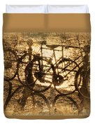 Bikes On The Canal Duvet Cover