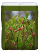 Bilberry Flowers Duvet Cover