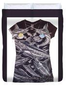Billfish Ladies Shirt Duvet Cover