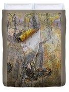 Birch Tree Bark No.0889 Duvet Cover