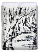 Birch Trees By The Brook Duvet Cover