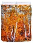 Birch Trees In Autumn Duvet Cover