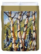 Birches Aglow By Prankearts Duvet Cover