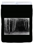Birches In Black And White Duvet Cover