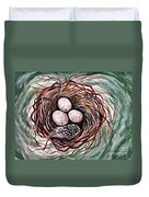 Bird Nest And A Feather Duvet Cover