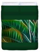 Bird Of Paradise Fractal Panel 3 Duvet Cover