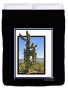 Bird On Cactus Duvet Cover