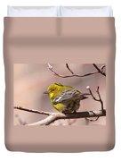 Bird - Pine Warbler - Detail Duvet Cover