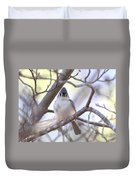 Bird - Tufted Titmouse - Busted Duvet Cover