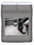 Birding Cat One Duvet Cover
