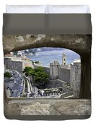 Bird's Eye View Of Dubrovnik Duvet Cover