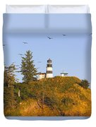 Birds In Flight Over Cape Duvet Cover by Craig Tuttle