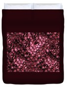 Birds In Redviolet Duvet Cover