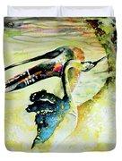 Birds Love Dance Duvet Cover