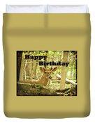 Birthday Greeting Card - Whitetail Deer Buck In Velvet Duvet Cover