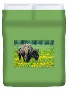 Bison And Friend Duvet Cover